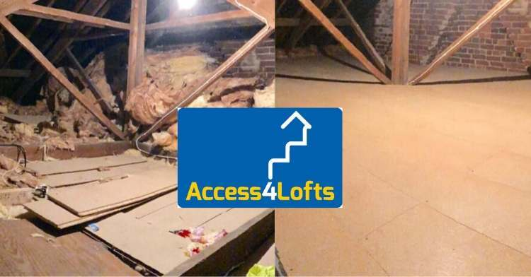 Loft before and after